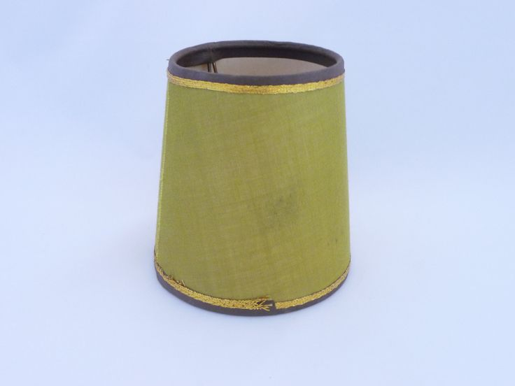 Olive Green Lamp Shade, Retro Lamp Shade, by Saltofmotherearth on Etsy