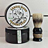 Sandalwood Mens Shaving Soap Manly Shaving Soap Jar Wet Shave Sufer Cat Unique Gifts For Men Funny Gifts For Men Mens Shave Soap Jar