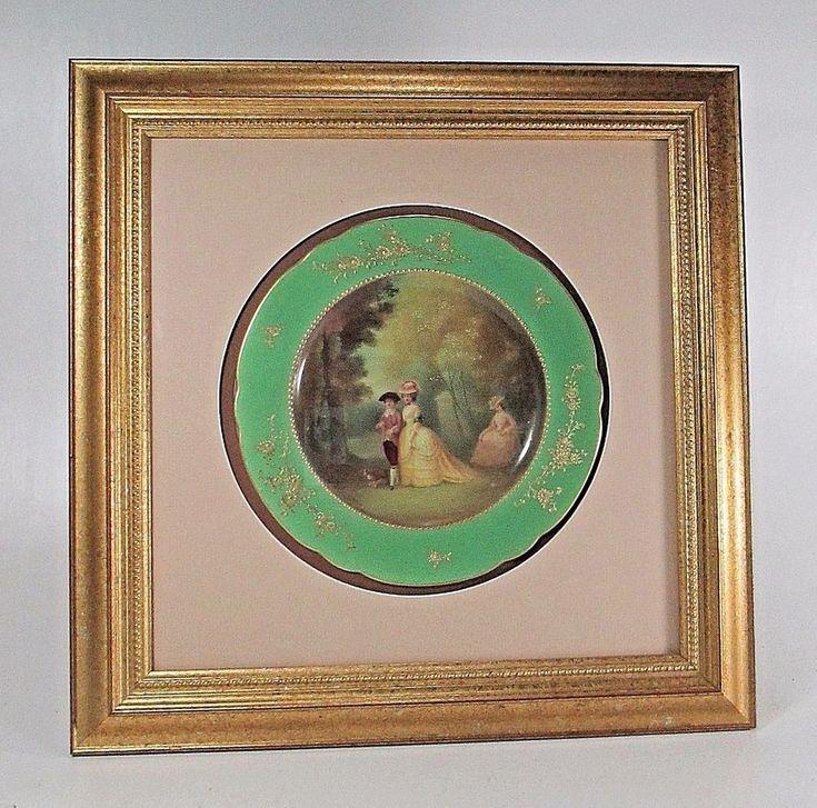 Beautiful Framed ROYAL DOULTON Scenic Plate Signed Leslie Johnson ca.1900's  #RoyalDoulton #Victorian