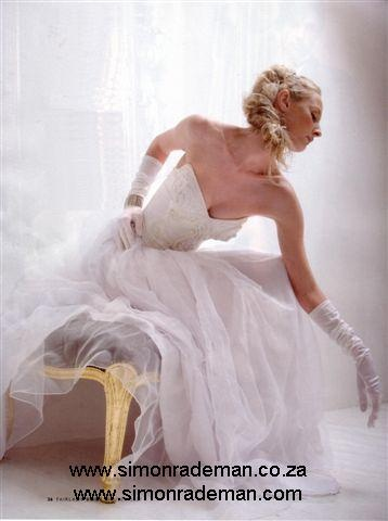 Bridal Wear by Simon Rademan, published in FairLady Bride - find many more on www.simonrademan.co.za