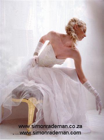 Bridal Wear by Simon Rademan, published in FairLady Bride - find many more on www.simonrademan.co.za
