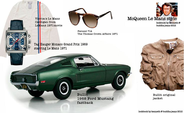 Steve McQueen Le Mans racing style. By Kenneth @ buddha Jeans