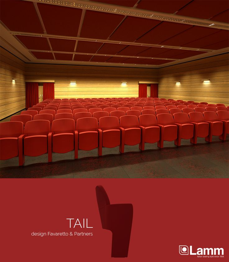 Tail - design @Favaretto&Partners  Armchair for theatre, cinema and auditorium.