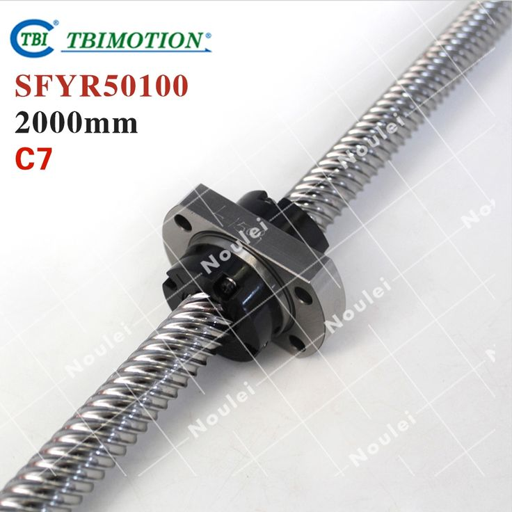 1080.39$  Watch now - http://ait3o.worlditems.win/all/product.php?id=32709720775 - TBI 50100 miniature ball screw 100mm dia 50mm lead 2000mm with ballnut SFY50100 for DIY CNC parts