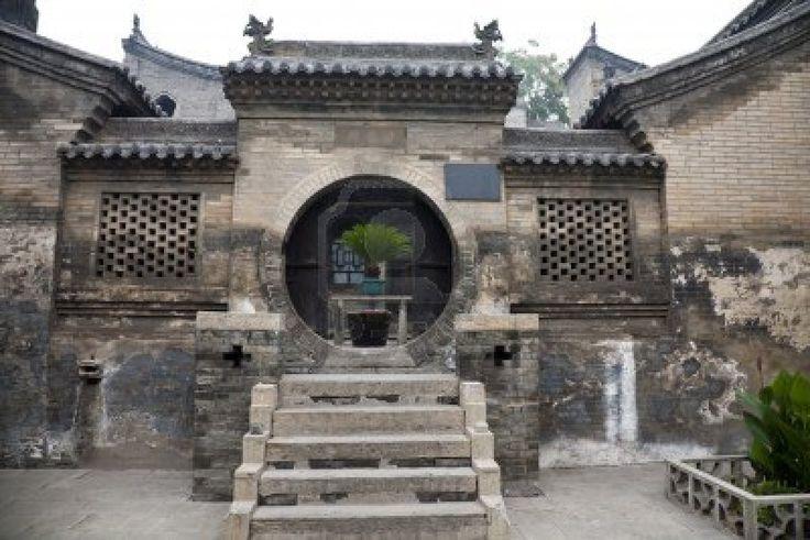 Ancient Chinese building at Wang's Grand Courtyard, Shanxi province. Stock Photo - 11767687