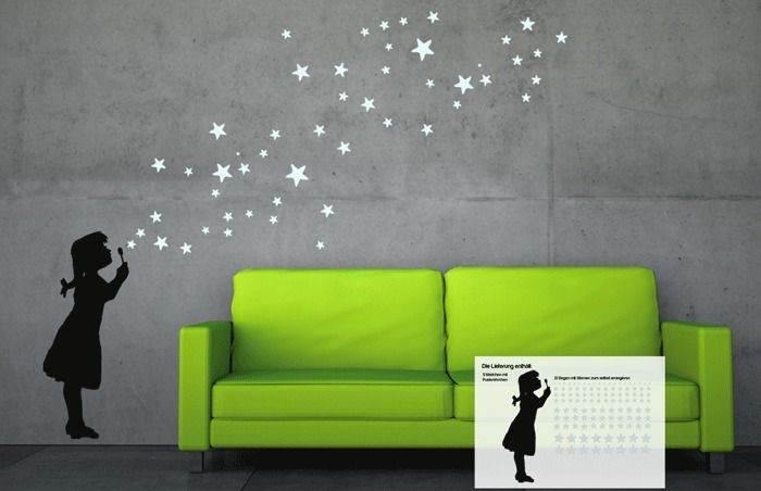 150 best uab diy wandsticker interior images on pinterest triangle shape triangles and decals - Dawanda wandtattoo ...