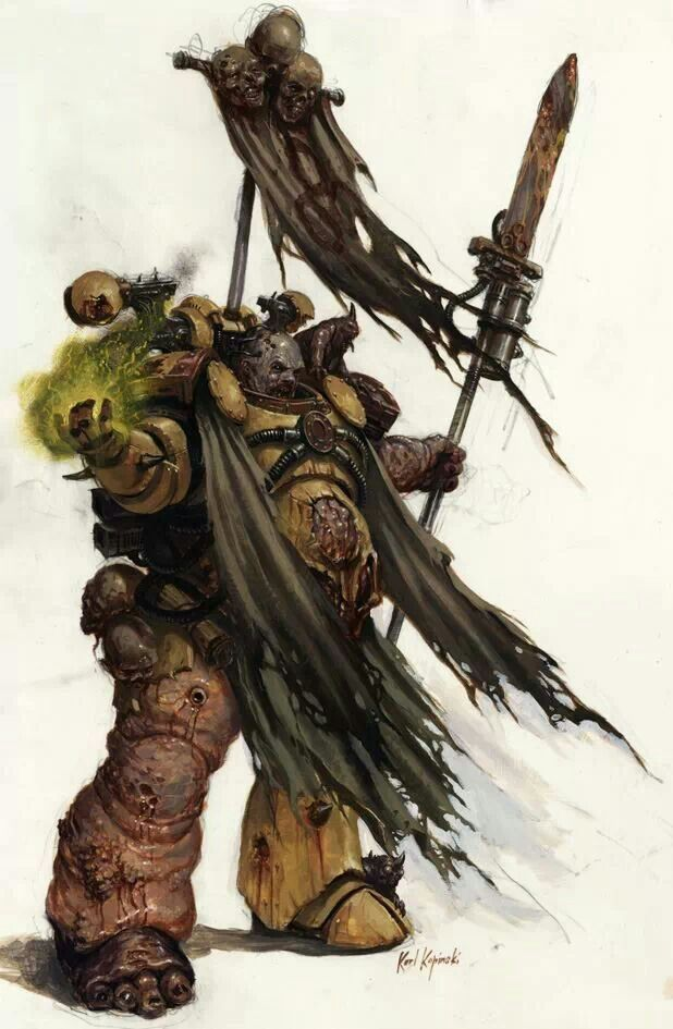 31 best images about 40K - Art - Marines - Death Guard on ...