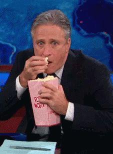 Jon Stewart Eat GIF - JonStewart Eat Eating - Discover & Share GIFs