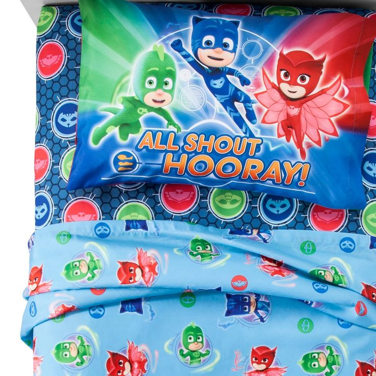 PJ Masks Twin Bed Blanket (With images) Twin sheet sets