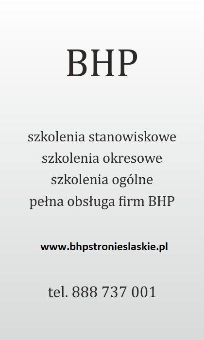 www.bhpstronieslaskie.pl Zapraszamy do współpracy!