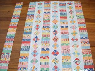 Lizzie the quilter: Long weekend of sewing Such a cute way to use scraps!