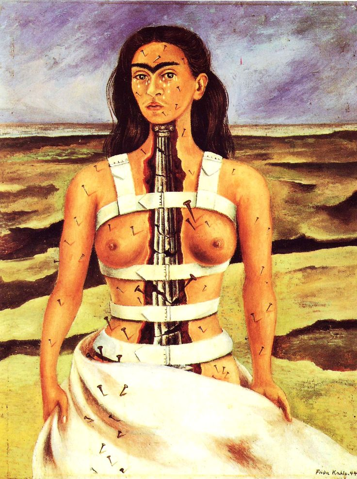 kahlo-la-columna-rota-1944.jpg (1798×2417)