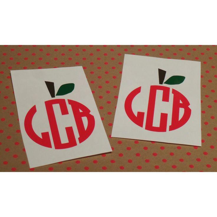 Custom Apple Monogram For Teachers- Great for Back to School!