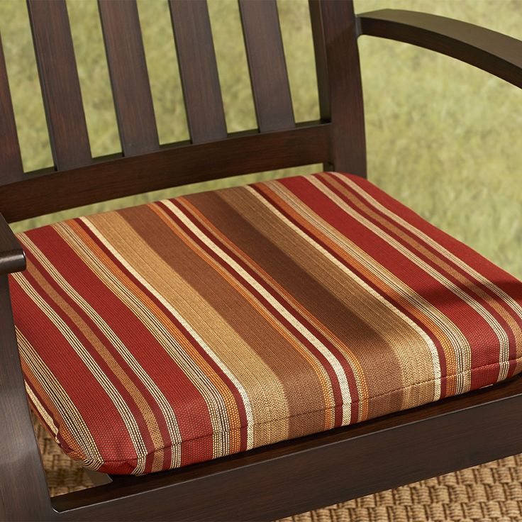 Shop allen + roth Chili Stripe Seat Pad For Adirondack Chair at Lowes.com