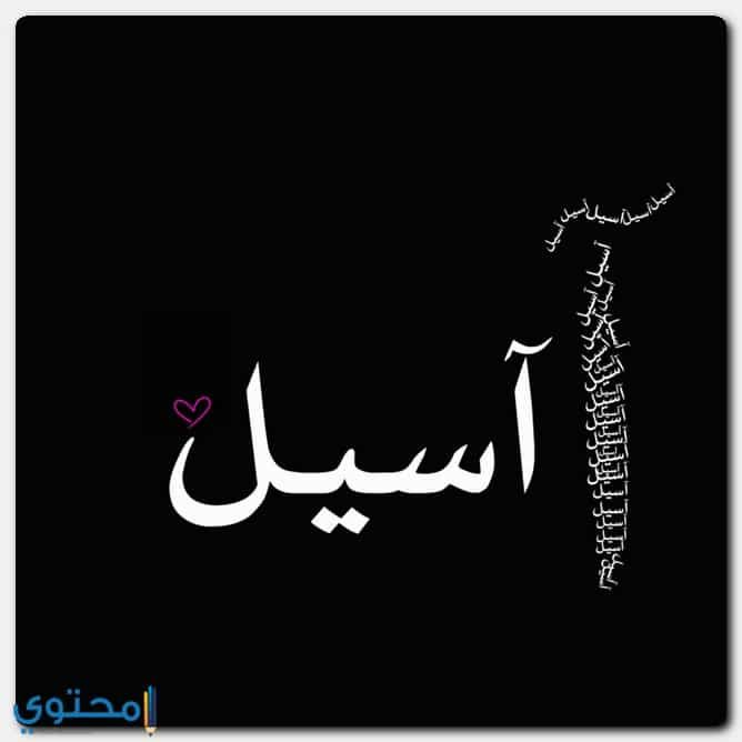 معنى اسم اسيل وصفاتها وحكم التسمية Aseel معاني الاسماء Aseel اسم اسيل Calligraphy Arabic Calligraphy