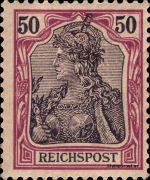 50 Pfennig - Michel Nr. 61 - Stamp Values: * 33€ / Ø 2.50€