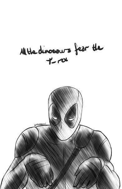 — Все динозавры боялись Ти-Рекса.