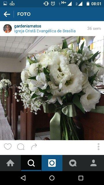 Bouquet no cortejo