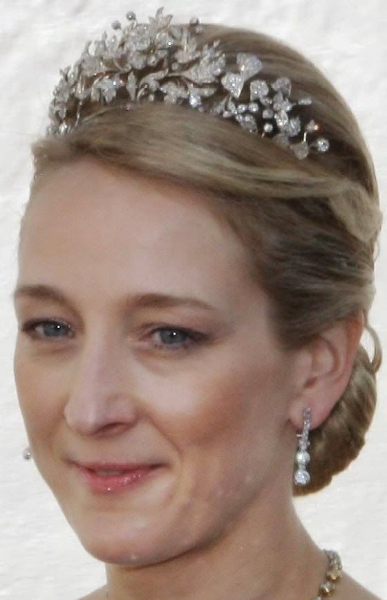 Tiara Mania: Floral Birthday Tiara worn by Princess Alexandra of Sayn-Wittgenstein-Berleburg