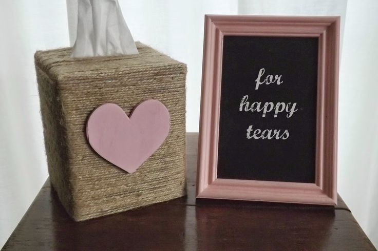 """For Happy Tears"" Tissue Box #diy #wedding"