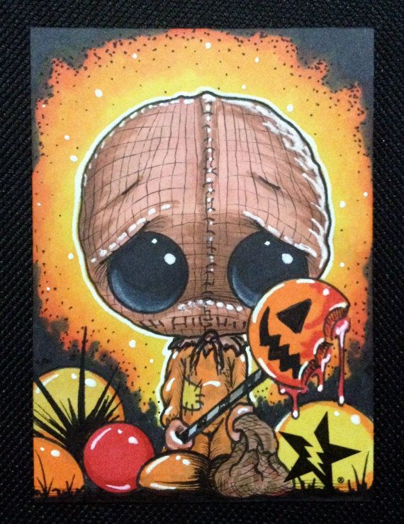 Sugar Fueled Sam Trick R Treat Horror lowbrow by Sugarfueledart, $4.00 @Kelly Lockner its the same company that was at bmore comic con where we got that kitty and unicorn picture!!!
