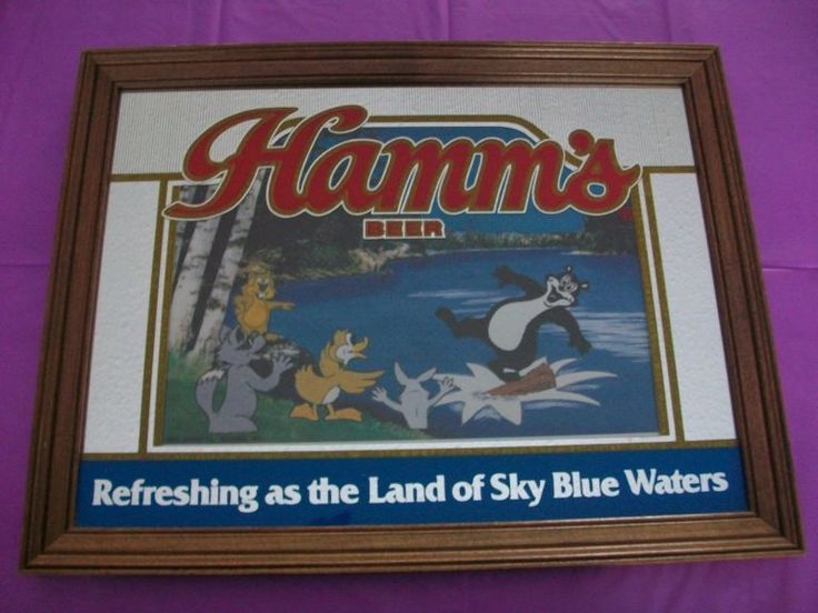 vintage hamms beer bear mirror | the Beer Collectionary