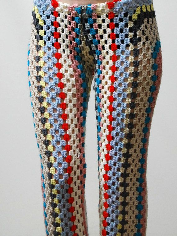 Punto de GANCHILLO abuela cuadrados pantalones por cruxandcrow