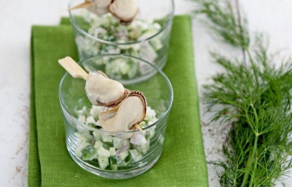 Komkommertartaar met mosselen - Recepten - Mosselen kunnen altijd!