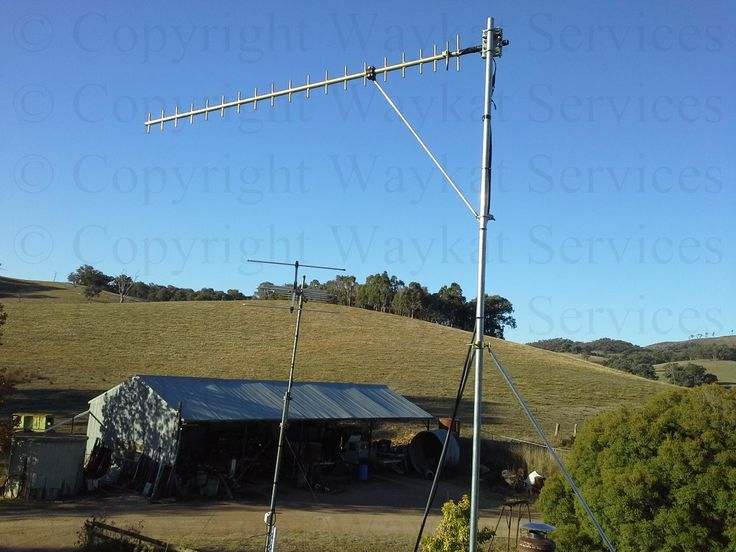 A close up view of the finished Telstra Next-G RFI 16dBi Yagi Antenna - Fully Welded Aluminium installation