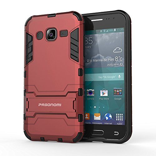 J2 Case, Pasonomi® [Slim Fit] [Kickstand Feature] Hybrid Dual Layer Armor Defender Full Body Protective Case Cover for Samsung Galaxy J2 J200M 4.7 inch 2015 (Red):   PASONOMI/b is a US REGISTERED TRADEMARK/b, producing a full line of accessories for all Apple products, Samsung phones and tablets. Amazon Kindle and Google tablets accessories etc.br High quality, fast shipping, good customer service, PASONOMI/b is your best choice!br br Features: /b/p  br Offer great protections for your...