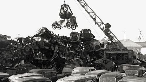 Scrap Yard Black And White Photos Google Search