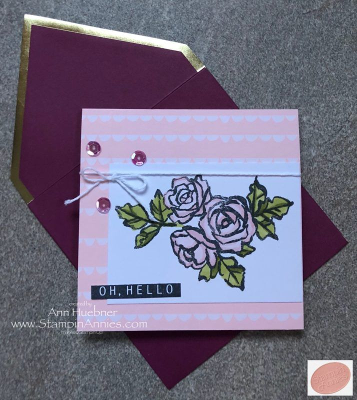 Petal Palette SU roses with Stampin' Blends and Color Me Happy Project Kit