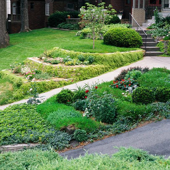 Tips for taming a slope gardens terrace and front yards for Garden designs for slopes