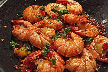Knoblauch - Garnelen, ein schmackhaftes Rezept aus der Kategorie Warm. Bewertungen: 159. Durchschnitt: Ø 4,7.