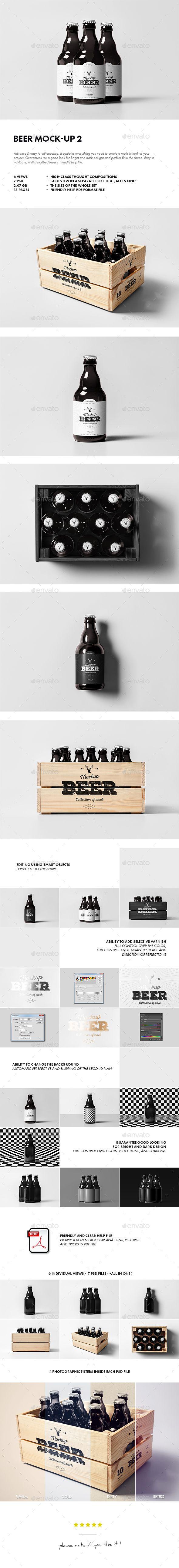 Beer Mock-up. Download here: http://graphicriver.net/item/beer-mockup-2/15390920?ref=ksioks