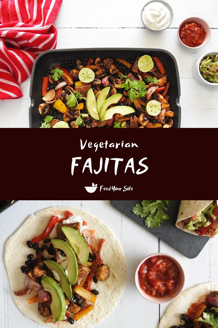Jul 3, 2020 – Delicious, satisfying and easy – these vegetarian fajitas include protein packed black beans, sizzled with…