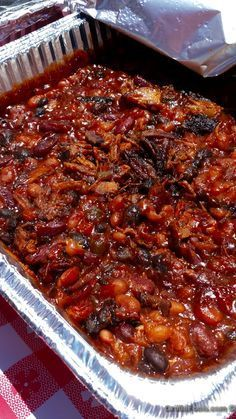 Oklahoma Joe's Beans | I take maybe the best smoked bean recipe on the planet and tweak it. Sorry, it's what I do. Either way, you will be highly impressed with how these smoked beans turn out | GrillinFools.com