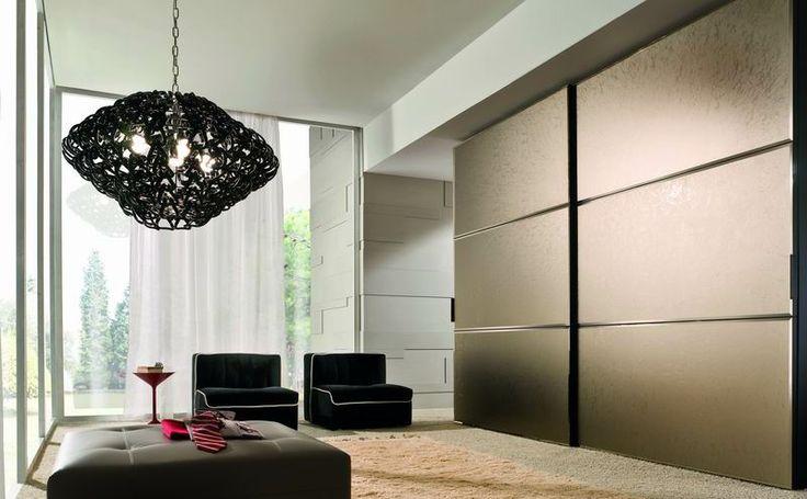LA FALEGNAMI - Door loft - Ice bronzed mirror