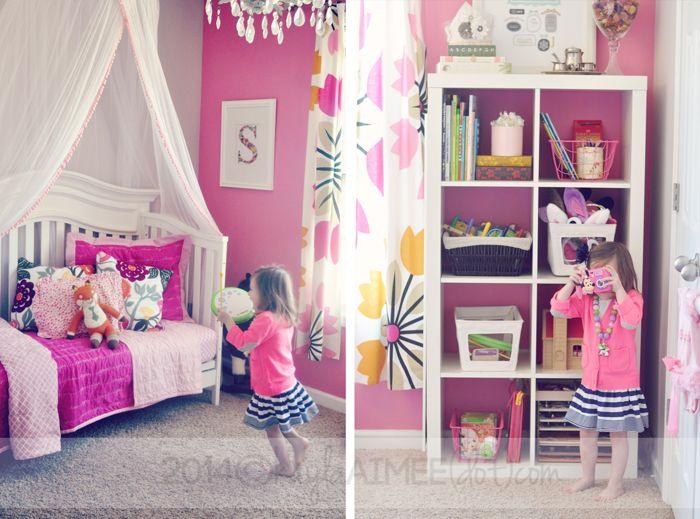Scarlette's Pink Toddler Room