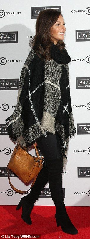 Dressed for the season: Michelle Keegan was also out in force at the bash on Shoreditch's ...