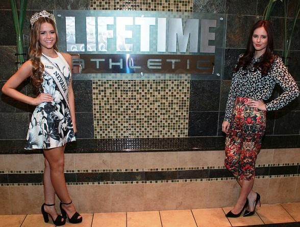 Shanna Moakler, Former Miss USA 2011 Alyssa Campanella and 2014 Miss Nevada Teen USA Alexa Taylor at 2015 Miss Nevada USA Orientation at Life Time Athletic Summerlin