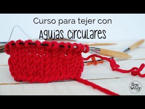 Tejer con Agujas Circulares: Montar puntos/ Punto Jersey Clase 1 | Soy Woolly