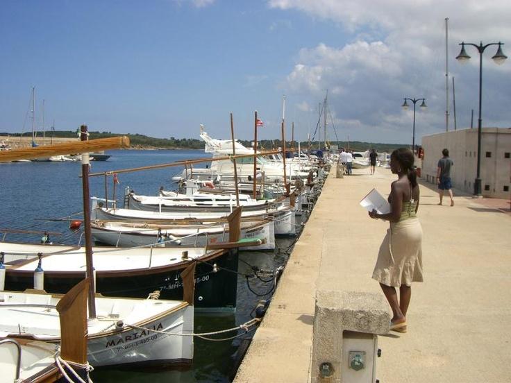 Fornells harbor in Menorca -Spain