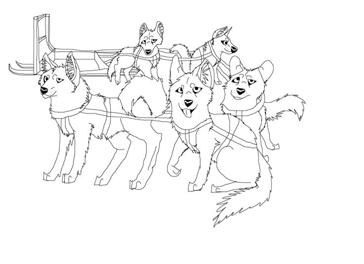iditarod coloring pages for kid - photo#8