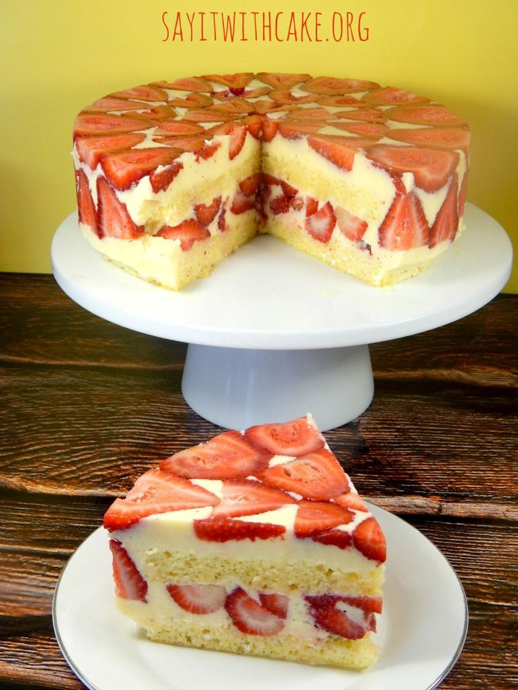 Strawberry Fraisier Cake