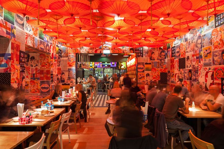 concrete brings the atmosphere of asian market stalls to amsterdam