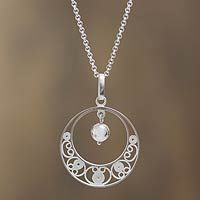Sterling silver filigree necklace, 'Junin Glam'