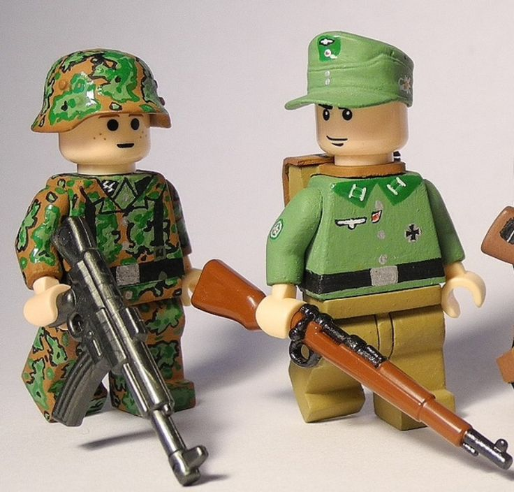 German Ss And Mountain Troop Soldiers Lego Ww2 Figures