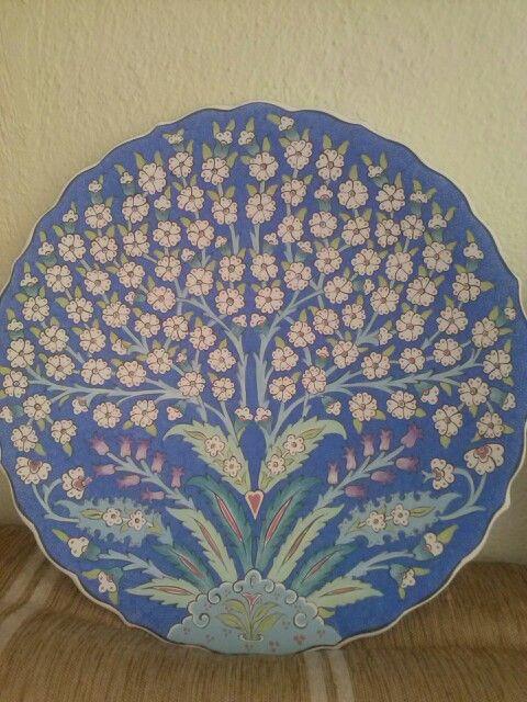 30luk fonu mavi dımdıklı hayat ağacı motifi nese can