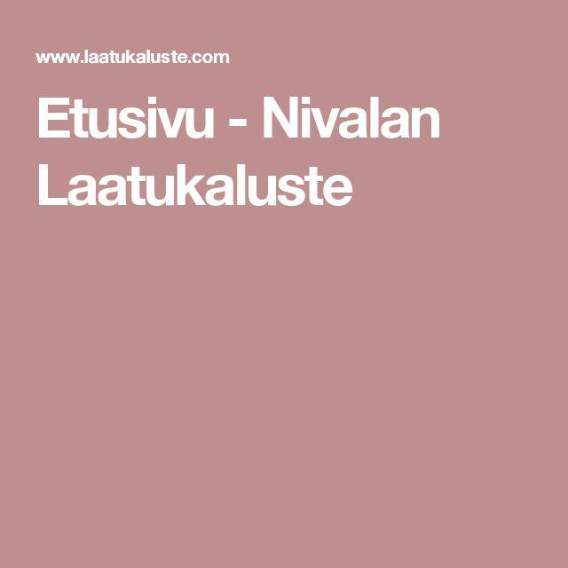 Etusivu - Nivalan Laatukaluste